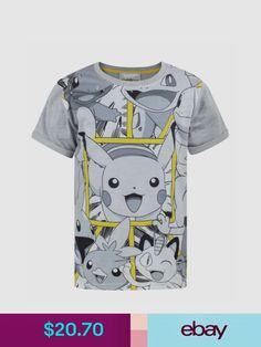 08c3b3323 Pokemon Tops, Shirts & T-Shirts Clothing, Shoes, Accessories Old Pokemon,