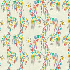 Rainbow Giraffes fabric by eclectic_house on Spoonflower - custom fabric