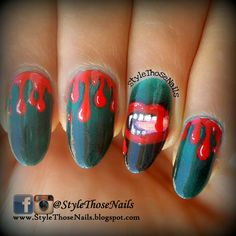 Halloween Vampire Nails - 3 Dark colours for