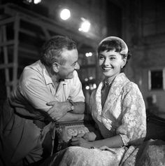 Audrey Hepburn on the set of the Roman Holiday