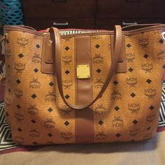 MCM Hand bag MCM hand bag in good condition reversible some wear on bottom as shown in photos MCM Bags Totes