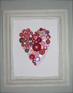 button heart glued on the glass. made mine of all different shades of whites/ecrus over dark valentine scrapbook paper. very cute!