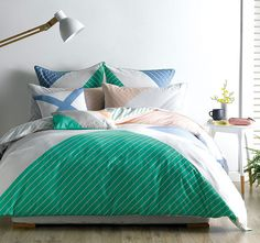 Thinking about redesigning your bedroom for summer? Deco City Living Mariner Quilt Cover Set is what you need - this bold print is a fresh look for a summer bedroom. What do you guys think?