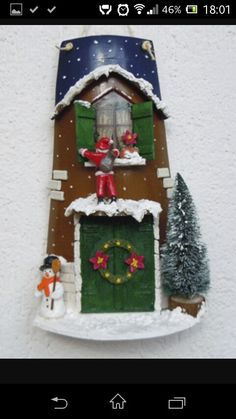 Xmas roof tiles