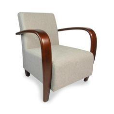 Wooster Herringbone Cappucchino Fabric Sprung Armchair