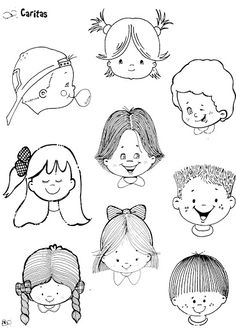 FIGURAS INFANTIL 1 - Juani Ros - Picasa Web Albums Basic Drawing, Drawing For Kids, Mat Man, Coloring Books, Coloring Pages, Facial Expressions Drawing, Bible Crafts, Child Day, Stick Figures