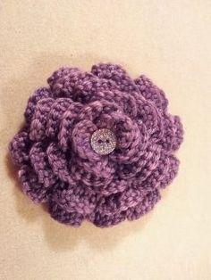 Crocheted brooch.