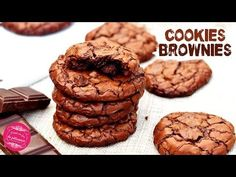 Brownie Recipes 12226 The recipe for brownie cookies, crispy chocolate cookies on the outside and fondant like a brownie on the inside . Brownie Recipe Without Chocolate, Boxed Brownie Recipes, Brownie Recipe Video, Brownie Cookies, Chocolate Cookies, Oreo Dessert, Fig Recipes, Sweet Recipes, 3 Ingredient Brownies