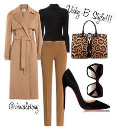 Posh Spice Inspired by visualxtasy on Polyvore featuring polyvore fashion style Balmain Jason Wu Etro Christian Louboutin Yves Saint Laurent Prada clothing