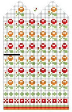 Схемы жаккарда к варежкам. Обсуждение на LiveInternet - Российский Сервис… Baby Knitting Patterns, Knitted Mittens Pattern, Crochet Mittens, Baby Hats Knitting, Knitting Charts, Loom Knitting, Craft Patterns, Knitting Stitches, Knitting Socks