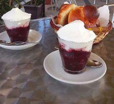 Granita ai gelsi e brioche, Sicilia Catania, Sicilian, Dolce, Gelato, A Table, Pudding, Desserts, Food, Brioche