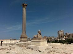 Excursiones en Egipto, La Columna de Pompeyo http://www.espanol.maydoumtravel.com/Paquetes-de-Viajes-Cl%C3%A1sicos-en-Egipto/4/1/29