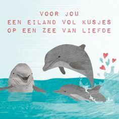 Een eiland vol kusjes - Grappige tekst voor een geboortekaartje met zee. #geboorte #geboortetekstje #baby #geboortekaartje
