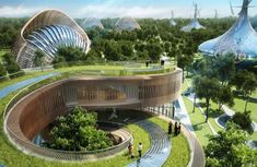 Futuristic villas that would produce more energy than they consume | via Gizmodo #sustainability