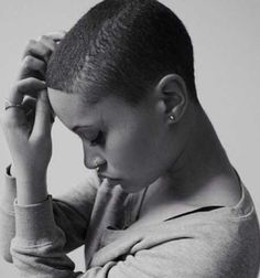 Stylish Brush Cut Short Hairstyle Takes a beautiful women to pull this off