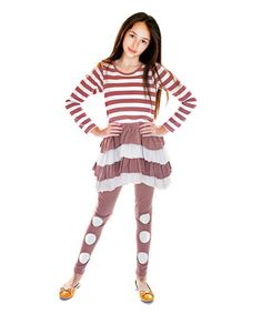 Another great find on #zulily! Cappuccino Ruffle Tunic & Leggings - Infant, Toddler & Girls #zulilyfinds