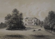 19th Century Litho: Valkenberg Estate near Arnhem