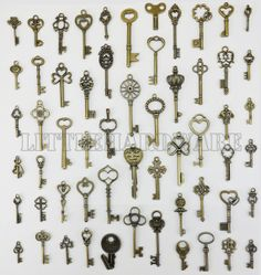 58pcs different vintage crown keys antique by LittleHardware, $26.50