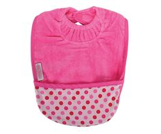 Silly Billyz Fuschia Personalised Pocket Bib