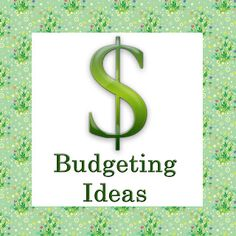 Budgeting Ideas and Links!  4. Grocery shop at home before you go to the store.  Just using up food and other items we already had both alone and in addition to items purchased has done wonders to cut the grocery budget.