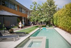 This modern pool was seen on the Dwell Home Tour. I love the clean lines.
