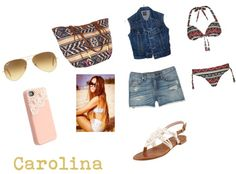 """summer"" by rafytommo ❤ liked on Polyvore"