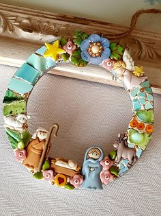Your place to buy and sell all things handmade Christmas Mosaics, Christmas Ornaments, Mosaic Flowers, Vintage China, Memorable Gifts, Mosaic Art, Picture Frames, Carpet, Clay