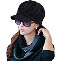 a880a5895b2 SIGGI 50% 100% Wool newsboy Cap Winter Hat Visor Beret Cold Weather Knitted