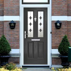 External Virtuoso Clifton Sextet Composite Door, Shown in Anthracite Grey. #secureddoor #externaldoor #frontenglishdoor