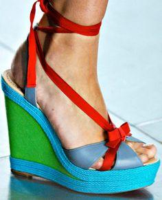 Fashion Week Shoes: Christian Louboutin x Jonathan Saunders Spring 2012