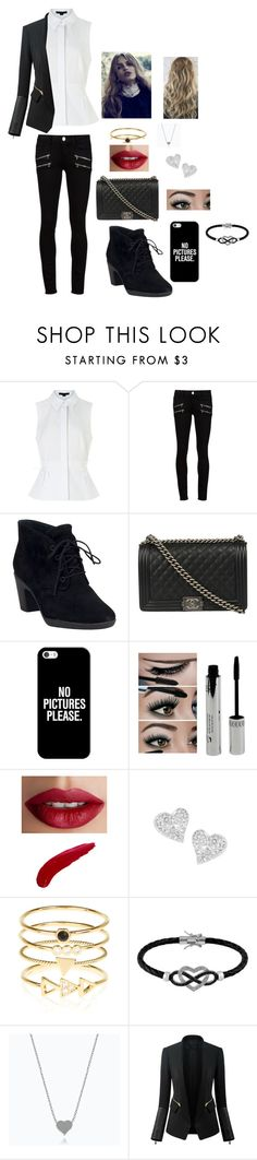 """""""Untitled #44"""" by glittergirl155 on Polyvore featuring Alexander Wang, Paige Denim, Clarks, Chanel, Casetify, TheBalm, Vivienne Westwood, Accessorize, Jewel Exclusive and Chicsense"""