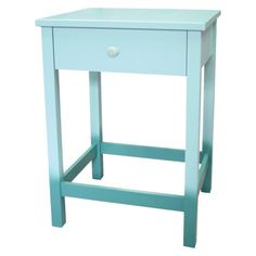 One of my girlfriends is using a pair of these in her nursery....soooo cute!  Threshold One Drawer Ombre Accent Table - Aqua
