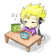 Thunder Flakes, the breakfast to zap away your sleep!! (..excluding Laxus)