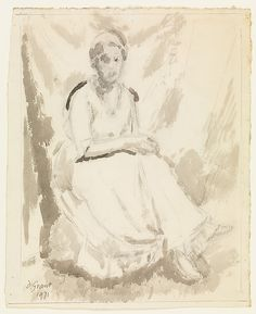 Vanessa Bell  Artist:Duncan Grant (British, Rothiemurchus, Inverness 1885–1978 Aldermaston, Berkshire) Date:1931 Medium:Watercolor and charcoal on paper Dimensions:H. 14-3/8, W. 11-1/8 inches (36.5 x 28.3 cm.) Classification:Drawings