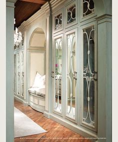 Concealed in Beauty: Habersham Dressing Room Custom Cabinetry . Country Hallway, Dressing Room Closet, Beautiful Closets, Beautiful Mirrors, Dressing Room Design, Dressing Area, Dream Closets, Open Closets, Closet Designs