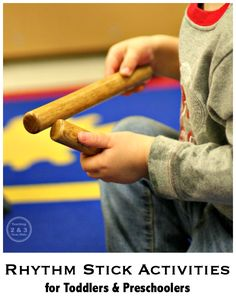 Rhythm Stick Activities for Toddlers and Preschoolers - fun for music and movement!