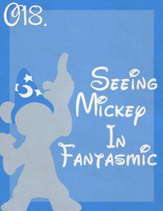 Seeing Mickey in Fantasmic