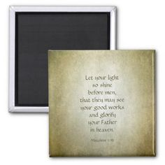 Matthew 5 16 Your Light So Shine Magnet - light gifts template style unique special diy