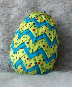 No Sew Quilted Egg Layered Easter Ornament Pattern
