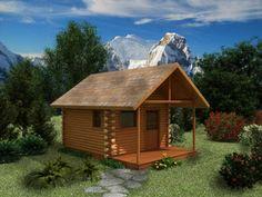 Small Cabin Floor Plans With Garden