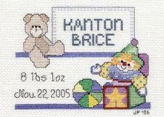 Crafty Cross Stitch: Baby Announcement