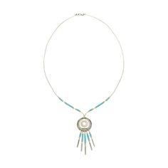 Collier Liquid silver, perles cylindriques couleur turquoise et argent.   Harpo Paris #nativeamerican #collierturquoise #navajo #pueblo #zuni