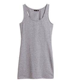 H&M pitkä trikootoppi, koko XS (valkoinen, tummanharmaa, vaaleanharmaa tai musta) - 4,99€