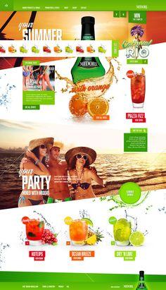 Midori - Website redesign by Garth Sykes, via Behance web-design Website Design Inspiration, Web Design Blog, Logo Design, Layout Inspiration, Design Ideas, Website Layout, Web Layout, Layout Design, Website Web