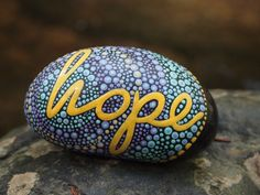 Inspirational Stone / Hope Stone /Written on Stone / Painted Rocks / Motivation Words /River Rocks
