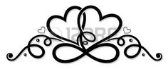 Illustration about Infinity with heart, Symbol of love, Tribal and Tattoo style. Heart Tattoo Images, Heart Tattoo Designs, Body Art Tattoos, Tribal Tattoos, Celtic Tattoos, Love Symbol Tattoos, Moon Tattoos, Tattoos Skull, Tatoos
