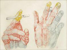 Illustration - Carmen Garcia Huerta - The Mushroom Company - hands