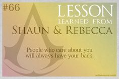 Assassin's Creed Life Lessons from Shaun and Rebecca