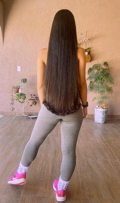 Easy Hairstyles For Long Hair, Long Hair Cuts, Down Hairstyles, Long Hair Styles, Long Brown Hair, Black Hair, Hair Wings, Super Long Hair, Silky Hair