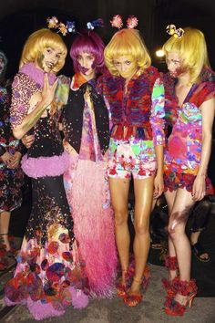 70's frou, frou with a tough of drag fashion for cool fashionistas at the festival dance tent  Romance Was Born